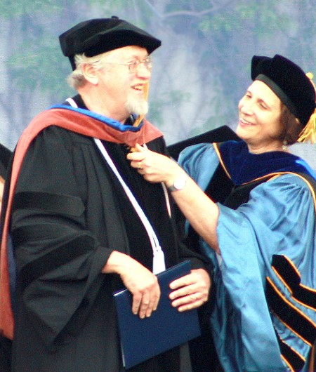 Richard Receiving His Honorary Doctorate